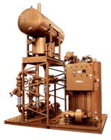 Vertical Coil Thermal Fluid (hot oil) Heater